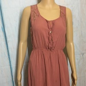 Pearl Blouson dress Sleeveless Pink color Size S
